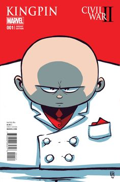 Civil War II: Kingpin variant covert by Skottie Young Baby Marvel, Chibi Marvel, Baby Avengers, Marvel Art, Deadpool Chibi, Marvel Kids, Skottie Young, Comic Book Artists, Comic Artist