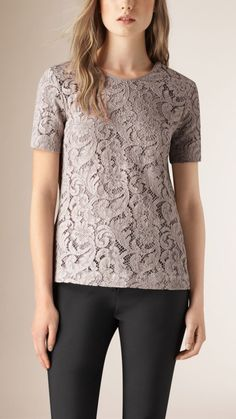 Short Sleeve French Lace Top