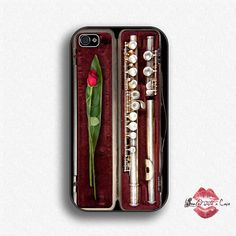 Flute with Rose iPhone 4 Case iPhone 4s Case by SealedWithaCase, $17.99