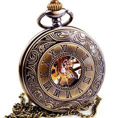 $27.25 (Buy here: https://alitems.com/g/1e8d114494ebda23ff8b16525dc3e8/?i=5&ulp=https%3A%2F%2Fwww.aliexpress.com%2Fitem%2FHot-Sale-Steampunk-Skeleton-Mechanical-Pocket-Watch-For-Women-Fashion-Mechanical-Clock-Watch-Roman-Numeral-Dial%2F1593265074.html ) WOONUN Top Brand Luxury Steampunk Skeleton Mechanical Pocket Watch For Men Fashion Mechanical Clock Watch Roman Numeral Dial for just $27.25