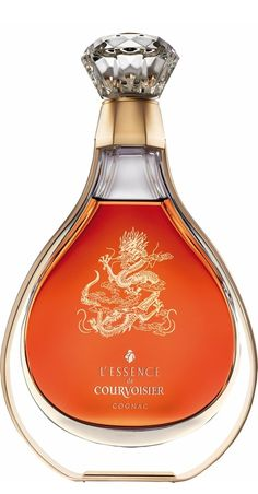 "★ Fresh Orange ★ L'Essence de Courvoisier du Dragon is available in a limited edition of 500 worldwide. A ""cognac"" must be produced according to strict legal standards in France. Particularly, the grapes and the region from which it is produced. Alcohol Bottles, Liquor Bottles, Drink Bottles, Perfume Bottles, Vodka, Scotch Whiskey, In Vino Veritas, Orange Crush, Wine And Spirits"