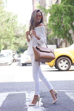 Como usar calça jeans branca