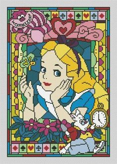 Thrilling Designing Your Own Cross Stitch Embroidery Patterns Ideas. Exhilarating Designing Your Own Cross Stitch Embroidery Patterns Ideas. Beaded Cross Stitch, Cross Stitch Charts, Cross Stitch Embroidery, Disney Cross Stitch Patterns, Cross Stitch Designs, Learn Embroidery, Embroidery Patterns, Disney Stained Glass, Disney Stich