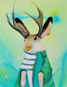 Dr Jackelope 4X6 Mounted Print by annatodaro on Etsy, $15.00