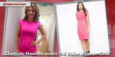 Where did Charlotte Hawkins get her pink dress from on Good Morning Britain - Style on Screen Charlotte Hawkins, Good Morning Britain, Pink Dress, Dresses For Work, How To Wear, Style, Fashion, Pink Sundress, Swag