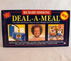 Richard Simmons Deal-A-Meal Weight Loss Program VHS Video Menu Cards Food Set