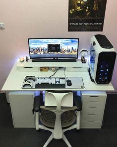 56 best computer desk setup images in 2019 desk computer desk rh pinterest com