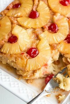 Perfect for Easter! My Pineapple Upside Down Bread Pudding recipe! This new twist on an old classic dessert is seriously delicious!