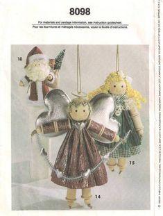 wooden spool dolls | Simplicity 8098 Spool Dolls and Animals Pattern