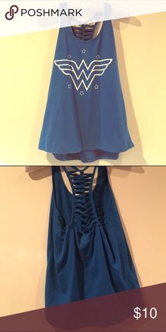 WONDERWOMAN Racerback tank💙 Will check size and update Tops Tank Tops