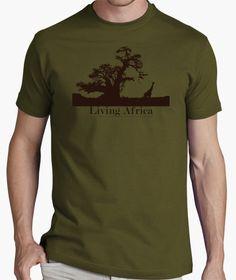 T-shirt Living Africa verde militare