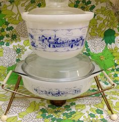 """Crown pyrex """"old country blues"""""""