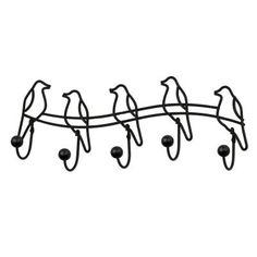 Vintage Coat Hook Hat Wall Mounted Holder Black Storage Bird Decor Rack Hanger for sale online Wall Mount Rack, Wall Mounted Coat Rack, Wall Racks, Towel Hooks, Coat Hooks, Hanging Hats, Entryway Closet, Over The Door Hooks, Door Rack