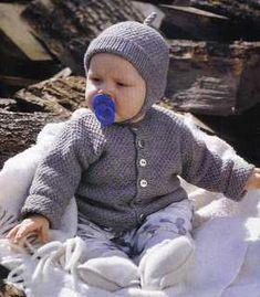 Sættet er strikket i Merci fra Filcolana Størrelse 0/4 (4/8) 8/12 (12/16) måneder Materiale : 4 (4) 5 (5) nøgler Merci Pind :... Knit Crochet, Crochet Hats, Baby Sweaters, Baby Knitting Patterns, Winter Hats, Children, Crocheting, Velvet, Jackets