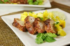 The Kitchen is My Playground: Sweet-&-Spicy Pork Tenderloin with Mango Salsa {Eating the Alphabet Letter M}