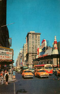 Time Square, 1950s#Repin By:Pinterest++ for iPad#