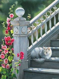 Sophie's Place by Susan Bourdet. Artist Susan Bourdet grew up in western Montana, learning early to love nature. Her luminous watercolors combine realistically detailed birds and animals with soft, impressionistic backgrounds, a technique that has evo