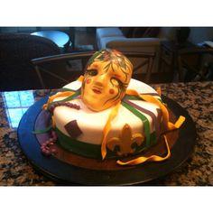 One tier Mardigras cake