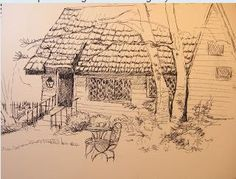 Lichgate Cottage by Parbara Psimas Sketch Crawl