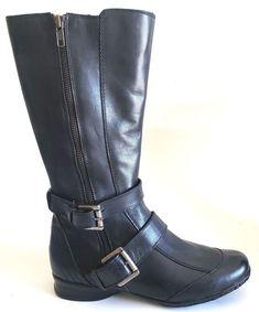 14603bf33 Kaya Girls Mid Calf Jackie Boots Black Juniors Size 6  Kaya  Boots  Everyday