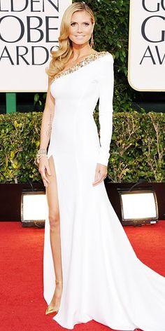 Heidi Klum 2013 Golden Globes #celebrities #celebrityfashion #redcarpet