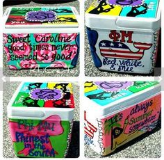 The oh so classic custom cooler.   13 Sorority Gifts For Your New Little