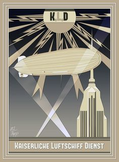 Imperial Airship Service Art Deco Poster by The-Necromancer.deviantart.com on @deviantART