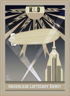 Imperial Airship Service Art Deco Poster by The-Necromancer.deviantart.com on @deviantART