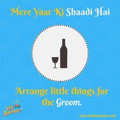 To do list for groom's best man. #MereYaarKiShaadi #Letsannounce #wedding #weddings #weddingday #weddingdress #groomsmen #bride #groom #bestman #weddingplanner #invitation