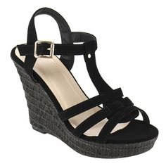 1bd8083f84b16 Beston T-Strap Wedge Sandals Shoe Deals