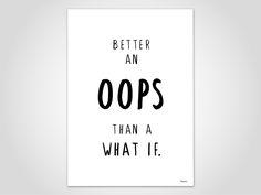 OOPS — Kunstdruck, Poster, Literatur, Motivation, Typografie, Skandinavisch Design, Artprints, modern, Literatur, Funny, Artprint, Spring von banum auf Etsy