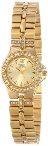 Invicta Women's 0134 Wildflower Collection 18k Gold-Plated Crystal Accented Watch Invicta http://smile.amazon.com/dp/B00444ULNY/ref=cm_sw_r_pi_dp_d1chwb054JJ4R
