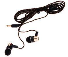 Earphones Jack Standard Noise Isolating 1.1M Reflective Fiber Cloth Line 3.5mm Stereo In-ear Earphone Earbuds Headset Headphone