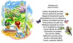 Poezii pentru copii: versuri frumoase și haioase dedicate juniorilor! Kids Poems, Spring Crafts, Nursery Rhymes, Kids And Parenting, Songs, School, 8 Martie, Mai, Languages