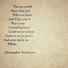 Christopher Poindexter is my favorite poet.