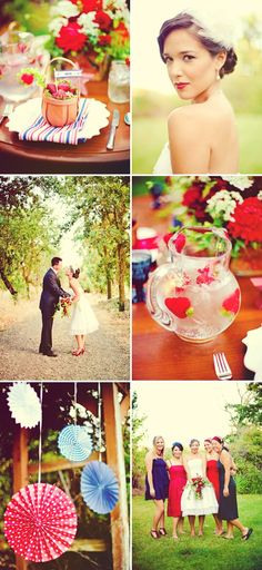 Love the water with strawberries  straberry wedding inspiration