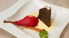 Rezept von Andreas Wojta Cheesecake, Pudding, Andreas, Desserts, Austria, Food, Red Wine, Pear, Cinnamon