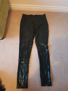 9f468edf996cf Wet look leggings size 12  fashion  clothing  shoes  accessories   womensclothing