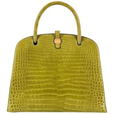 View this item and discover similar for sale at - In absolutely pristine condition, this very rare vintage Hermes bag, 'Sac Dalvy', is finished in exclusive Porosus Crocodile, accented with a signature Hermes Bags, Hermes Handbags, Fashion Handbags, Fashion Bags, Women's Fashion, Bags Online Shopping, Online Bags, Vintage Couture, Vintage Gucci