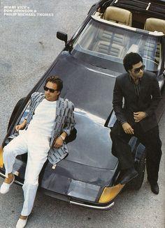 Don Johnson & Philip Michael Thomas in Miami Vice (1984-89, NBC)