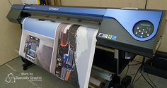 Rolling off the printer! We've got signs for Meritor in the works.