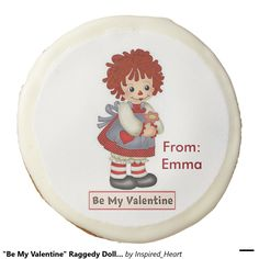 """""""Be My Valentine"""" Raggedy Doll Cookies Sugar Cookies/Dozen Valentine Treats, Be My Valentine, Chocolate Covered Oreos, Sugar Cookies, Dolls, Puppet, Doll, Girl Dolls"""