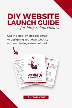 Website Launch in just 7 steps! Are you looking for a step-by-step guide to designing your own website for your business? Look no further ... get the free WordPress Roadmap that shows you how to DIY your website. #buildawebsite #DIYwebsite #websitedesign #WordPress #Freebie #WebDesign #website #WProadmap #WebMentor #WordPressRoadmap #tutorial #WebsiteLaunchGuide #Solopreneur #WebsiteInWeekend #Layout2Launch #anitam.com #LearnWithAnitaM Creative Business, Business Tips, Online Business, Design Your Own Website, Twitter Tips, Business Entrepreneur, Instagram Tips, Blogging For Beginners, Step Guide