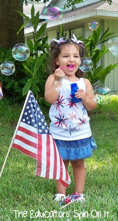 Ideas for celebrating Memorial Day  Fourth of July with Kids from The Educators' Spin On It