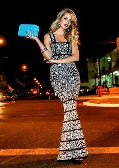 marina casemiro, zaus boutique ribeirão preto, blog de moda, look da noite, vestido longo bandagem preto e branco, babyliss studio dk, brinco turquesa marcela castr (4)
