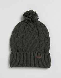 Top Fashion Gifts for Men - Keep your thoughts warm and dry with this Barbour beanie Barbour, Cable Knit, Knitted Hats, Latest Trends, Asos, Winter Hats, Beanie, Warm, Gift Ideas