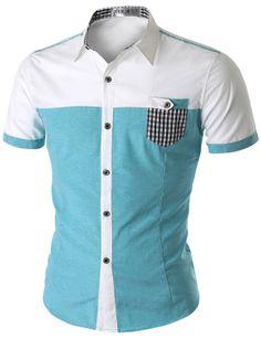 Doublju Men's Short Sleeve Shirt (CMTSTS02) #doublju