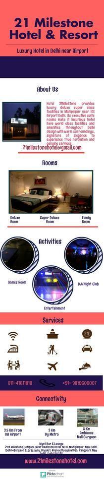 Luxury Hotels in Mahipalpur near IGI Airport | Piktochart Infographic Editor