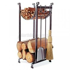 Sling Log Rack with Tools -Enclume Hearth Sling Log Rack with Tools - Perfect for overflow firewood Hearthside Wood Rack at L. Bean 44 Simple Indoor Firewood Storage Design Ideas On A Budget Indoor Firewood Rack, Firewood Storage, Fireplace Logs, Modern Fireplace, Fireplaces, Bohemian Living Rooms, Storage Design, Storage Ideas, Into The Woods
