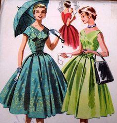 McCalls 3528 Misses Dress for Border Print by PishPoshNotions